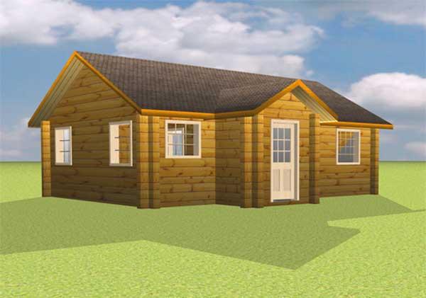 Karstula chalet en bois massif for Id maison bois